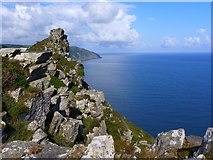SS7049 : Looking to Castle Rock, Valley of Rocks, Lynton by Ruth Sharville