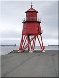 NZ3668 : Lighthouse on Herd Groyne by David Dixon