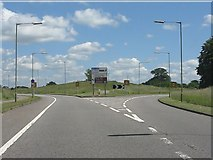 TQ0999 : New triangular road junction, Leavesden Green by Peter Whatley