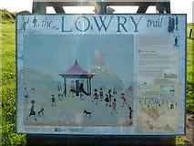 NU0052 : Lowry Trail information board, Berwick-Upon-Tweed by Alexander P Kapp