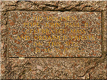 SD8203 : Inscription on Papal Monument by David Dixon