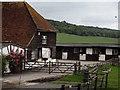 TQ0348 : Farm Below Albury Downs by Colin Smith