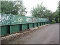 SU9889 : Graffiti on railway bridge on Mumford Lane by Bikeboy