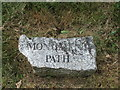 SS4918 : Nameplate for Monument Path by Barrie Cann