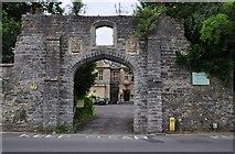 ST5038 : Glastonbury : Abbey House Gateway by Lewis Clarke