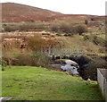 SS8592 : Former railway bridge over the River Llynfi,  Nantyffyllon  by Jaggery