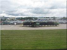 NT1473 : Fire training area at Edinburgh Airport by M J Richardson