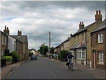 TL4567 : Cottenham: Italian flag on Denmark Road by John Sutton