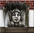 TL2313 : Sculpted keystone, former post office, Welwyn Garden City by Jim Osley