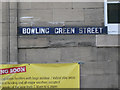 SP2764 : Enamelled street nameplate, Bowling Green Street by Robin Stott