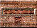 SP2864 : Terracotta lettering, Coffee Tavern, Old Square, Warwick by Robin Stott
