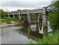 SN4019 : River Towy flows under Carmarthen's bascule bridge by Jaggery