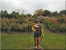 TQ3005 : Sculpture in Rose Garden, Preston Park by Paul Gillett