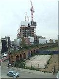 TQ3382 : Bishopsgate Goods Yard wall by Malc McDonald
