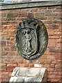 NX9775 : Dumfries coat of arms, plaque on St. Michael's Bridge by Rose and Trev Clough
