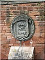 NX9775 : Maxwelltown coat of arms, plaque on St. Michael's Bridge by Rose and Trev Clough