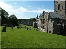 SM7525 : Graveyard on the south side of St Davids Cathedral by Dave Spicer
