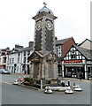 SN9768 : War Memorial and clock tower, Rhayader by Jaggery
