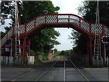 SK8508 : Footbridge and railway, Oakham by JThomas