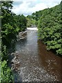 NU1913 : Weir on the River Aln by Russel Wills