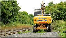 J1461 : Rail/road crane, Drumbane near Moira by Albert Bridge