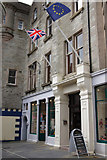 HU4741 : Entrance to the Grand Hotel, Commercial Street , Lerwick by Mike Pennington