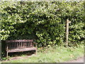 SN1415 : Bench opposite entrance to Cwmllefrith by chris whitehouse
