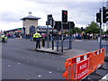 SO9198 : Olympic Torch Closes Road by Gordon Griffiths