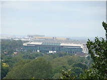 TQ1873 : View of Twickenham Stadium from Richmond Park by Robert Lamb