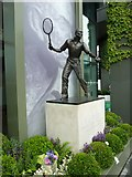 TQ2472 : The Fred Perry Statue at Wimbledon by Basher Eyre