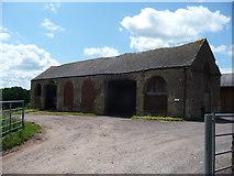 SO6031 : Old barn at Maythorn Farm, Brockhampton, Herefordshire by Jeremy Bolwell