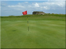 NU2522 : Dunstanburgh Castle Golf Course at the 10th green by Alexander P Kapp