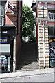 NZ2564 : Steps between #23 and #25 Dean Street by Roger Templeman