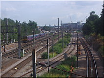 TQ3187 : Railway lines north of Finsbury Park station by David Howard