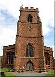 SJ4154 : St Chad's Church, Holt by Jeff Buck
