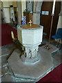 NZ0772 : The Parish Church of St Mary the Virgin, Stamfordham, Font by Alexander P Kapp