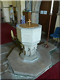 NZ0772 : The Parish Church of St Mary the Virgin, Stamfordham, Font by Alexander P Kapp