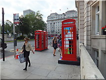 TQ2780 : BT ArtBox in Park Lane london by PAUL FARMER