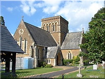 TQ0165 : Holy Trinity Church, Lyne by Alan Hunt