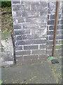 TQ3284 : Cut bench mark on wall of 1A Alwyne Place by Brian Westlake