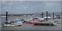 SZ3394 : Boats at Lymington River by Oast House Archive