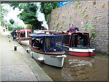 SO8554 : Steam launches below Sidbury Lock by Chris Allen