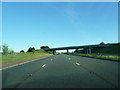 NY5422 : Bridge carrying the A6 over the M6 by Alexander P Kapp