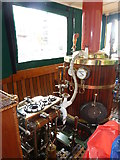 SO8554 : Worcester & Birmingham Canal - engine of steamboat Lizzzeee by Chris Allen