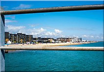 SZ9398 : Bognor Regis seafront from the pier by Roger May