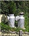 SX9574 : Milk churns, Teignmouth by Derek Harper
