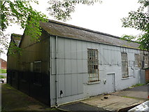 NT1278 : South Queensferry Architecture : SE Corner of Blue Shed at Port Edgar by Richard West