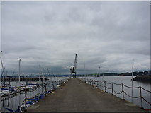 NT1278 : Coastal South Queensferry : The Main Pier at Port Edgar by Richard West