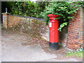 TG1906 : Colney Lane Victorian Postbox by Adrian Cable