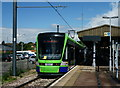 TQ3568 : Stadler Variobahn Tram at Elmers End by Peter Trimming